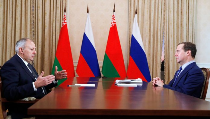 Mr Medvedev and Mr Rumas discussed energy and other issues