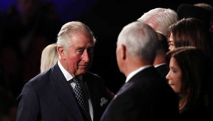 Netizens discuss Prince Charles who shook the hand of Mike Pence