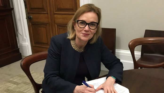New British Ambassador Deborah Bronner arrived in the Russian foreign Ministry