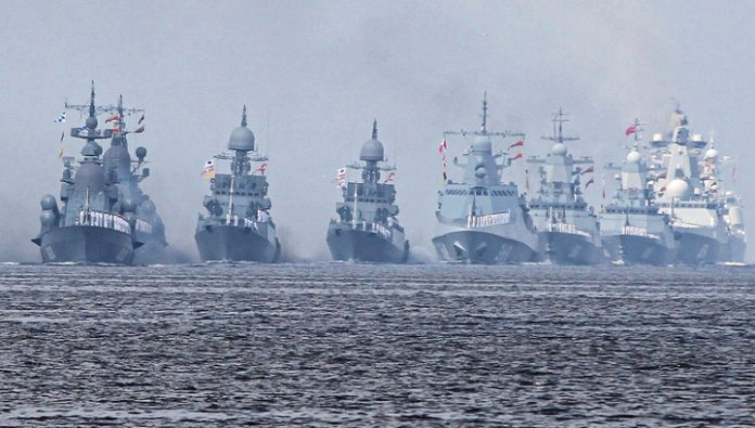 New year in the World ocean met more than 60 ships of the Russian Navy