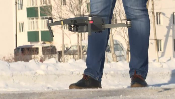 On Sakhalin island are using drones to check services utilities