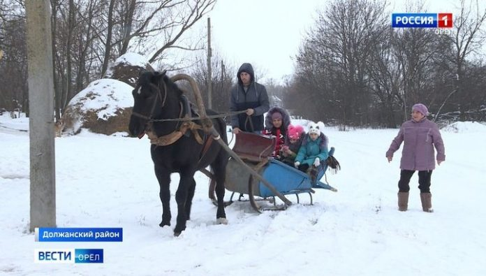 Orlovsky SK responded to the story about a girl with disabilities who commute to school on a horse