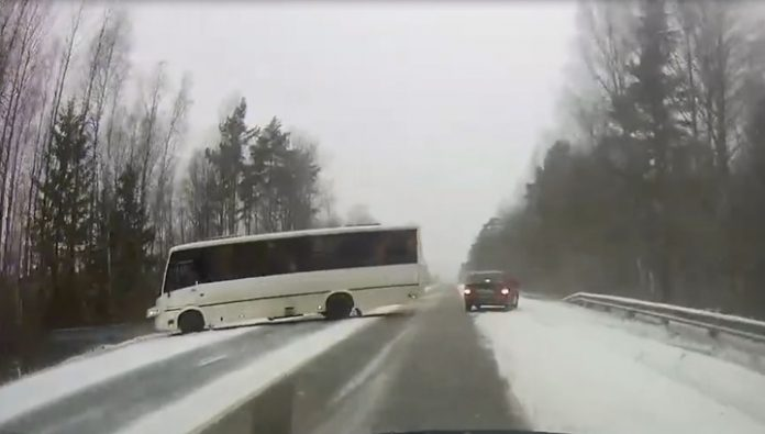 Posted a video of a bus accident in Leningrad region