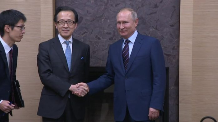 President Putin held a formal meeting with the head of the security Council of Japan