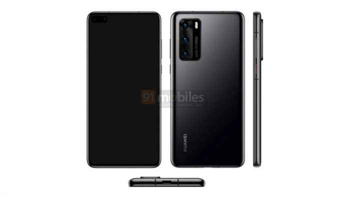 Published an official image of the Huawei P40