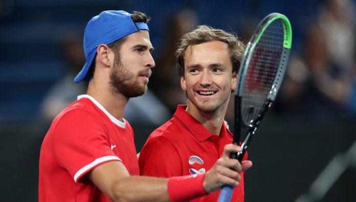 Russian national team on tennis has reached the quarter-finals of the ATP Cup