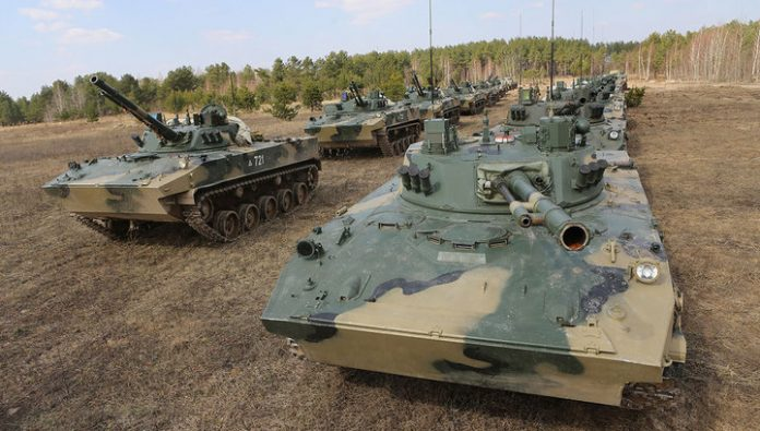 Russian paratroopers received dozens of new armored vehicles