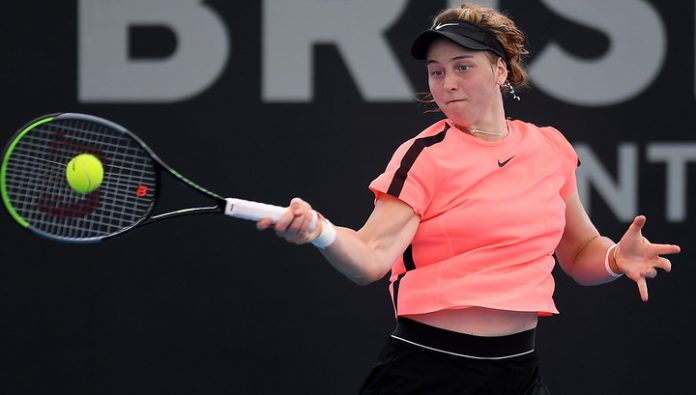 Samson sheathed racket in the first circle Australian Open
