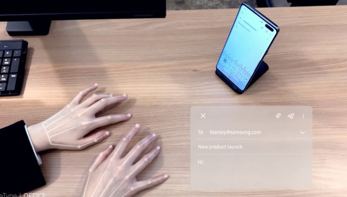Samsung showed how to replace the onscreen keyboard with selfie camera