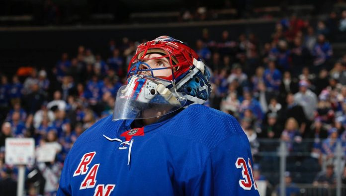 Shesterkin made 29 saves in the match Rangers –