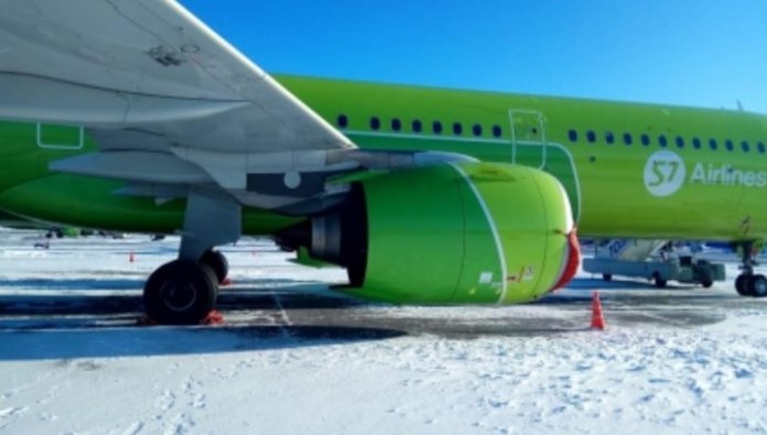 SK announced the cause of the fire in the engine of a plane of the company S7 in Novosibirsk