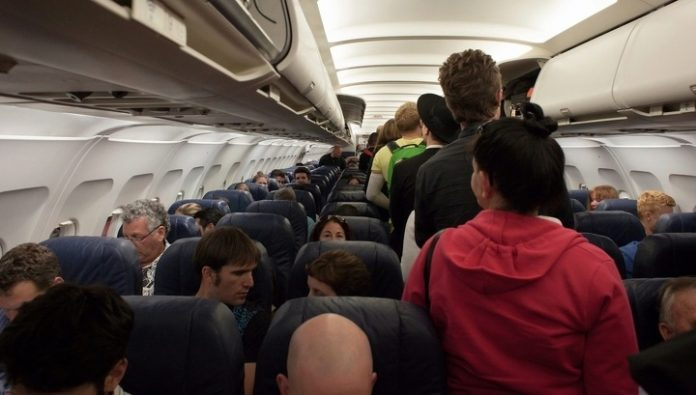 Slow forward is the fastest way for the passengers in the plane