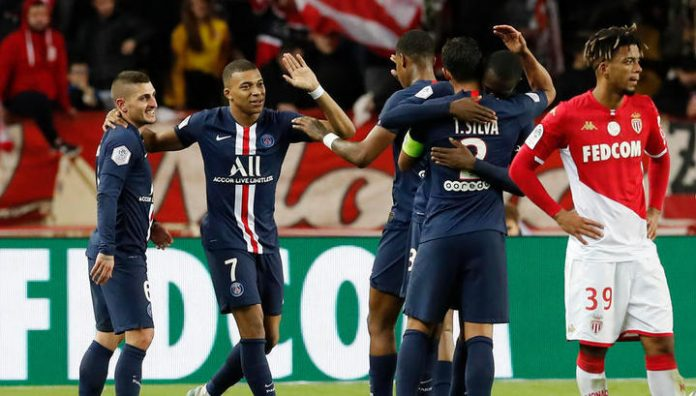 Take Mbappe helped PSG to defeat Monaco, Golovin played 69 minutes