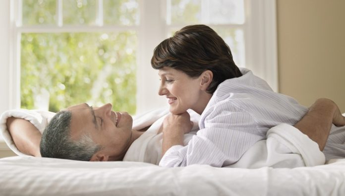 The age of menopause in women depending on their sexual activity