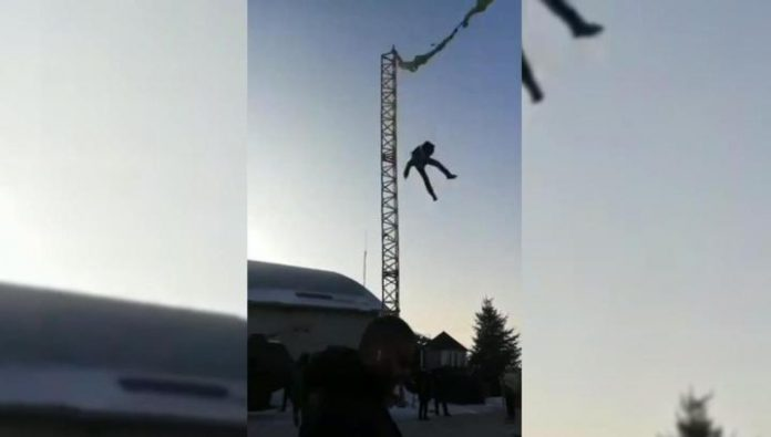 The child flew off the ride in front of parents