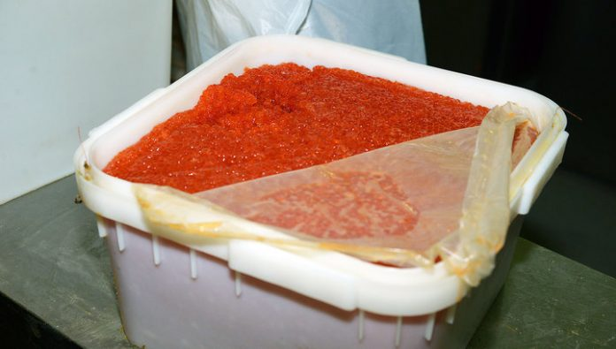 The doctors purchased a 78 kilograms of red caviar to feed patients