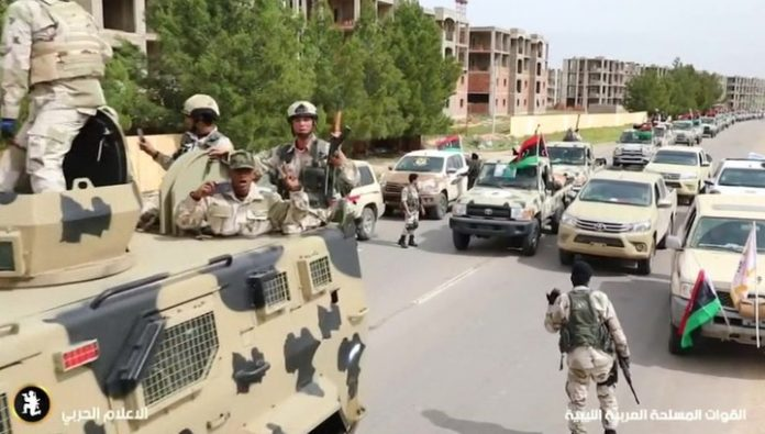 The European Union can send its military into Libya