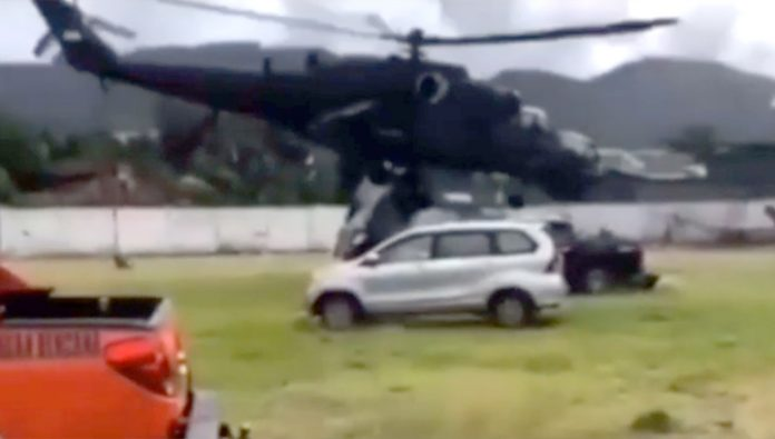 The head of the Indonesian Directorate for the struggle with the elements was almost killed in a helicopter Mi-35. Video