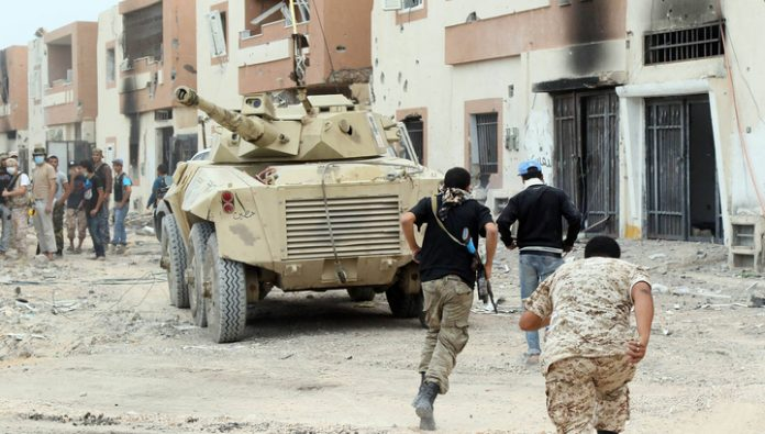 The Libyan city of Sirte passes from hand to hand