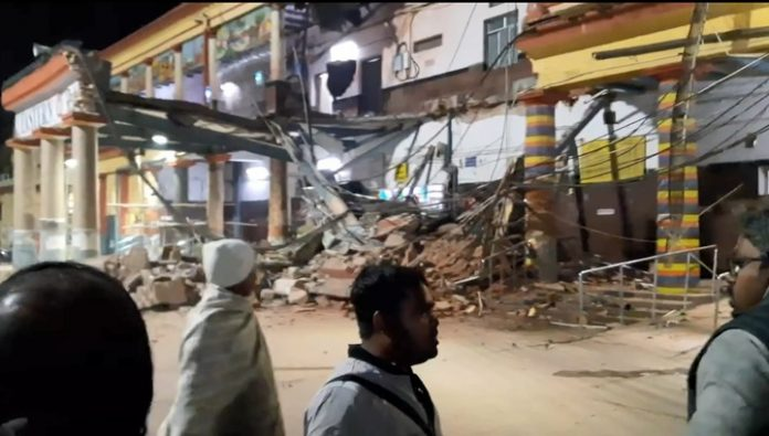 The moment of collapse station in India came in the video