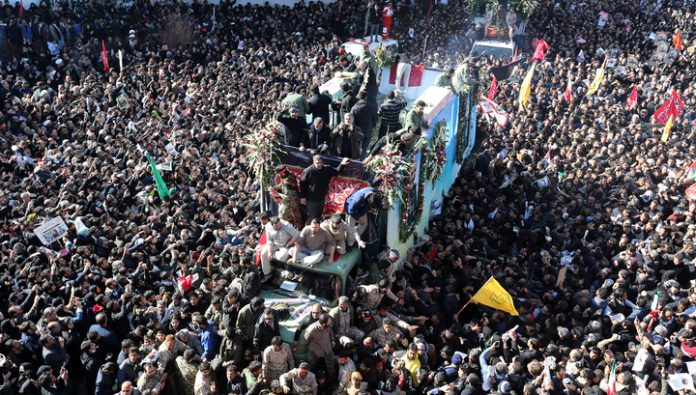 The number of victims of a stampede during the funeral of General Soleimani is growing