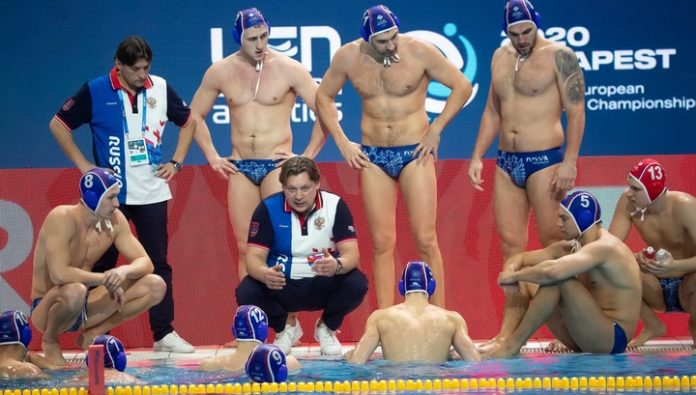 The Russian water Polo team lost to Romania at the European championship