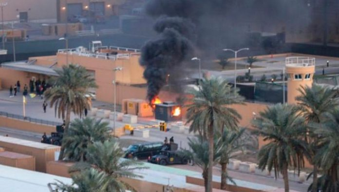 The shelling of the green zone of Baghdad, no injuries