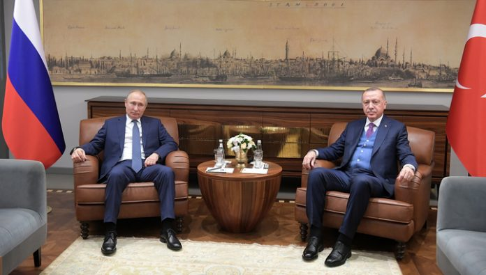 The talks between Putin and Erdogan lasted half an hour