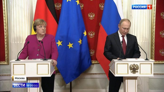 The talks in the Kremlin: Putin and Merkel have agreed on most issues