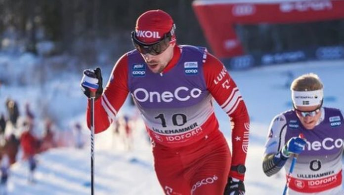 The tour de Ski. Ustyugov and Bolshunov was in the top three in the mass start