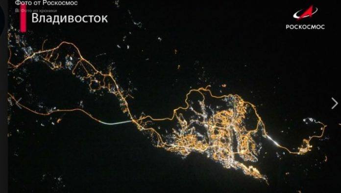 The Vladivostok from the height of 420 km captivated the social network