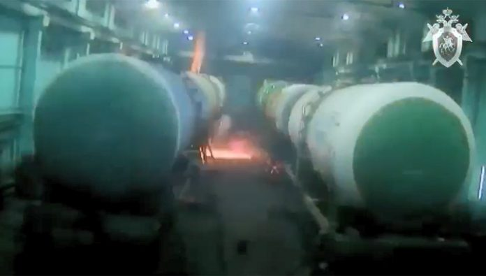The worker was engaged in welding on the tank from the oil and died