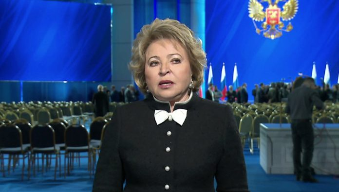 Valentina Matviyenko, the presidential address: today is a day of good news