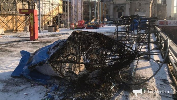 Vladivostok mouse was burned by the vandals