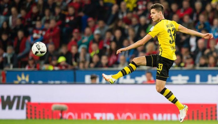 Weigl was replaced by Borussia Dortmund for Benfica