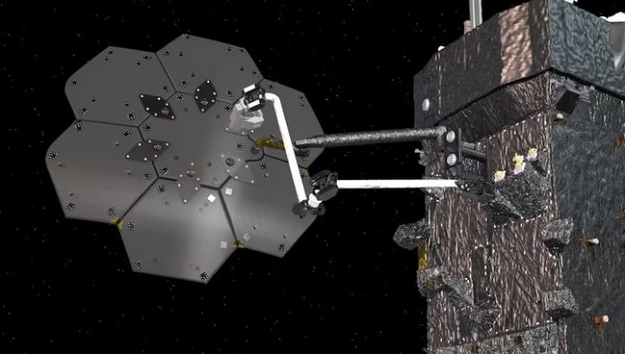 The robot will collect the spacecraft directly into orbit