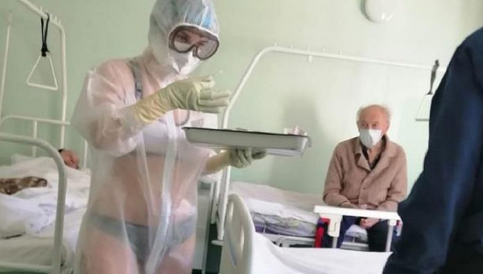 In Tula the nurse in her swimsuit, stood up to the Governor and the chief