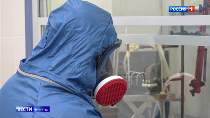 The journalist of VGTRK managed to get into the special laboratory of the Ministry of defense