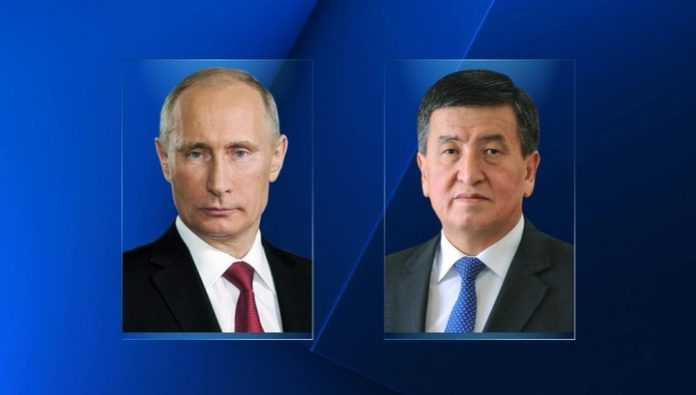 Before departure from Moscow Jeenbekov spoke with Putin by phone