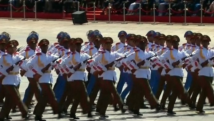 China sent for the Victory Parade in Moscow more than a hundred soldiers