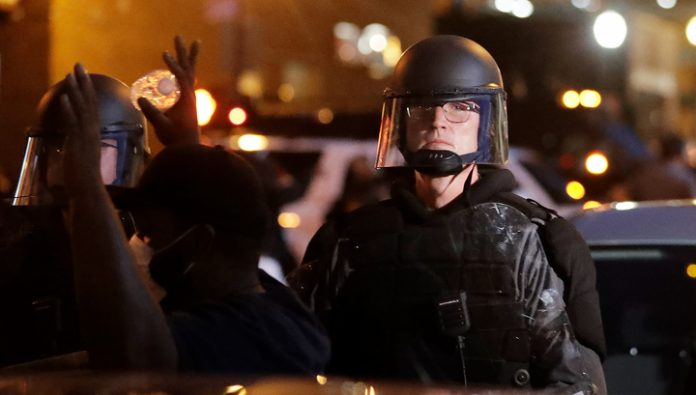 During protests in Kentucky, killing one of the demonstrators, one injured