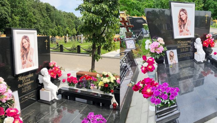 Former Director of Nachalovo showed the monument erected on the grave of the singer