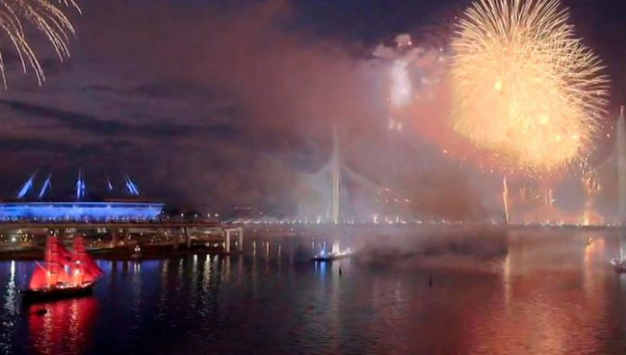 In St. Petersburg hosted the traditional festival of school leavers