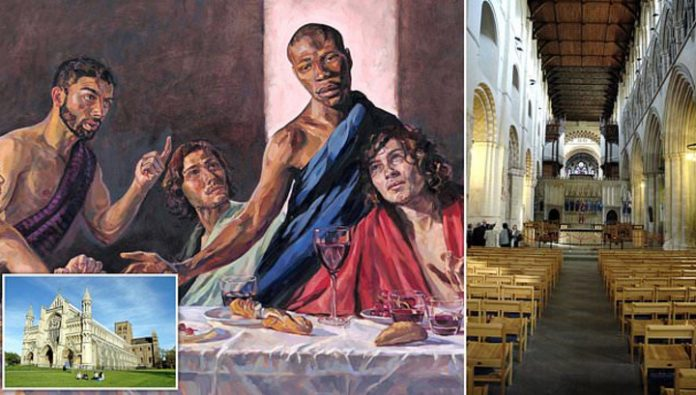 In the British Cathedral there was a picture of black Jesus Christ