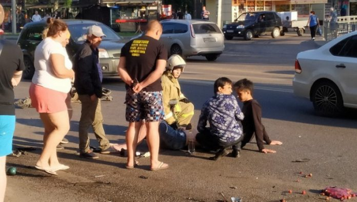 In Voronezh detained fled after hitting two pedestrians motorists