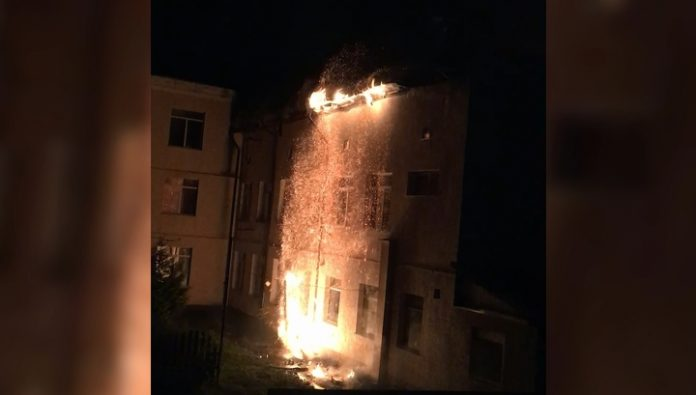In Zelenogradsk have begun check upon a fire in the centre