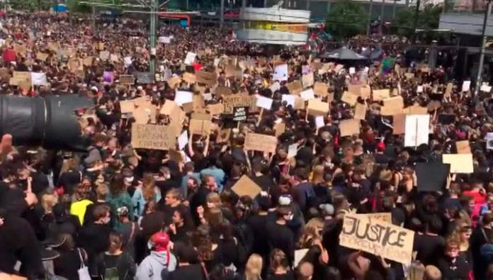 Protests against racism and police brutality taking place across Europe