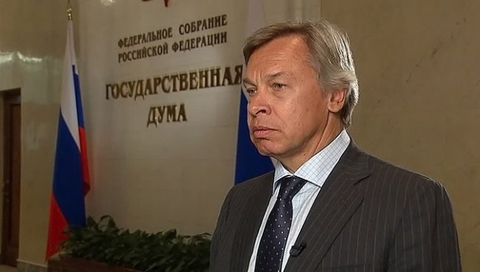 Pushkov commented on the appearance of COVID-19 in the market,