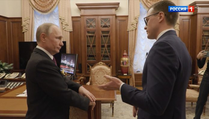 Putin even during your vacation stays in touch