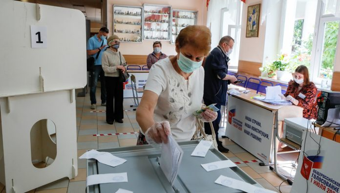 The CEC reported turnout for voting on amendments